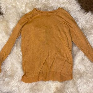 American Eagle Soft and Sexy Mustard Long Sleeve